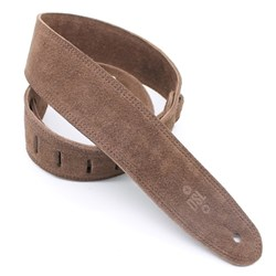 "DSL SLS 3-Ply Suede Guitar Strap (Brown, Brown Backing, 2.5"")"