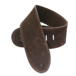 "DSL SLS 3-Ply Suede Guitar Strap (Brown, Brown Backing, 3.5"")"