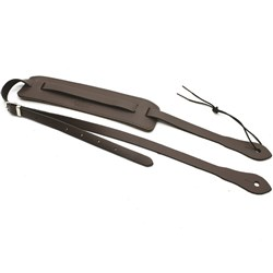 "DSL Ukulele Strap (Saddle Brown Leather, 3/4"")"