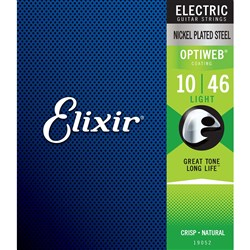 Elixir 19052 Electric Guitar Nickel Plated Steel w/ Optiweb Coating - 6-String LT (10-46)