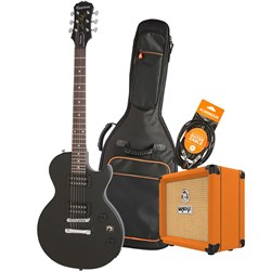 Epiphone Les Paul Special VE Electric Guitar Pack w/ Orange Crush 12 & Accesories (Ebony)