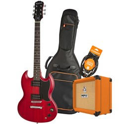 Epiphone SG Special VE Electric Guitar Pack w/ Orange Crush 12 & Accesories (Cherry)