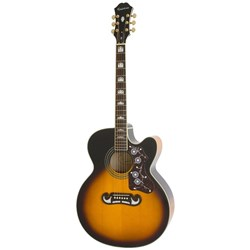 Epiphone EJ-200SCE Solid Top Cutaway Acoustic/Electric Guitar (Vintage Sunburst)