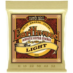 Ernie Ball 2004 Earthwood Light 80/20 Bronze Acoustic Guitar Strings - 11-52 Gauge