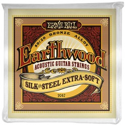 Ernie Ball Earthwood Silk & Steel Extra Soft 80/20 Bronze Acoustic Strings - (10-50)