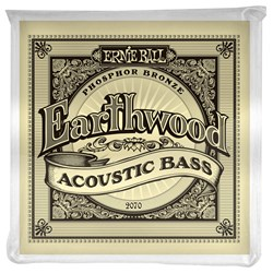 Ernie Ball 2070 Earthwood Phosphor Bronze Acoustic Bass Strings - 45-95 Gauge