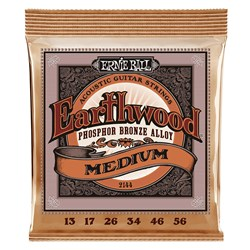 Ernie Ball 2144 Earthwood Light Phosphor Bronze Acoustic Guitar Strings 13-56