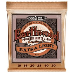 Ernie Ball 2150 Earthwood Extra Light Phosphor Bronze Acoustic Guitar Strings 11-52