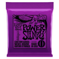 Ernie Ball 2220 Power Slinky Nickel Wound Electric Guitar Strings - 11-48 Gauge