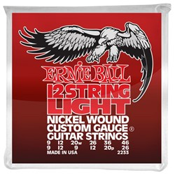 Ernie Ball 12-String Nickel Wound Electric Guitar Strings - Light (9-46)