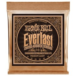 Ernie Ball 2546 Everlast Med Light Coated Phosphor Bronze Acoustic Guitar Strings 12-54