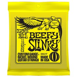 Ernie Ball 2627 11-54 Yellow Beefy Slinky Nickel Electric Guitar Strings
