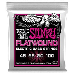 Ernie Ball Flatwound Slinky Electric Bass String - (45-100)