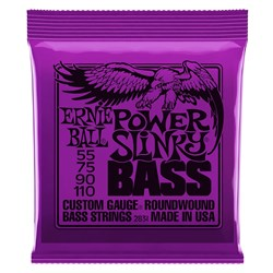 Ernie Ball 2831 55-110 Purple Power Slinky 4 String Nickel Wound Electric Bass Strings