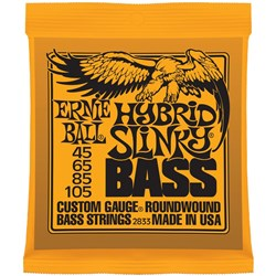 Ernie Ball 2833 45-105 Orange Hybrid Slinky 4 String Nickel Electric Bass Strings