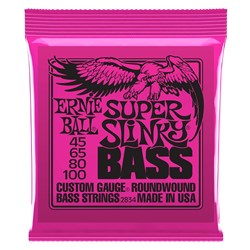 Ernie Ball Super Slinky 4-String Nickel Wound Electric Bass Strings - (45-100)