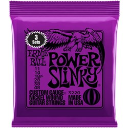Ernie Ball 3220 11-48 (3 Pack) Power Slinky Nickel Wound Electric Guitar Strings