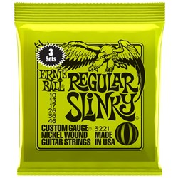 Ernie Ball 3221 10-46 (3 Pack) Regular Slinky Nickel Wound Electric Guitar Strings