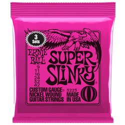 Ernie Ball Super Slinky Nickel Wound Electric Guitar Strings 3-PACK - (9-42)