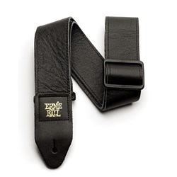 "Ernie Ball 2"" Tri-Glide Italian Leather Guitar Strap - (Black)"