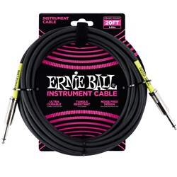 Ernie Ball 20' Classic Straight / Straight Instrument Cable - (Black)