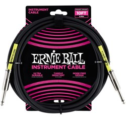 Ernie Ball 10' Classic Straight / Straight Instrument Cable - (Black)