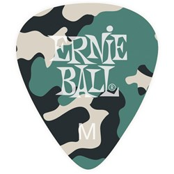 Ernie Ball Medium Camouflage Cellulose Bag of 12 Picks
