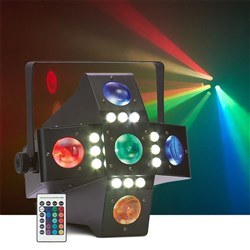Event Lighting Darkstar 2-in-1 Fat Beam & White Strobe Effect Light w/ Remote