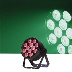 Event Lighting Flat ProPar HEX 12 x 12W RGBWAU (Black)