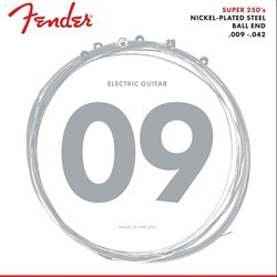 Fender 250L Super 250's Ball End Nickel Plated Steel Electric Guitar Strings (9-42)