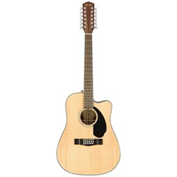 Fender CD-60SCE Dreadnought 12-String Acoustic/Electric w/ Cutaway (Natural)