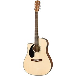 Fender CD-60SCE Dreadnought Left-Hand Acoustic Guitar w/ Pickup & Cutaway (Natural)