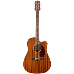 Fender CD-140SCE Dreadnought Acoustic Guitar w/ Cutaway & Pickup (All-Mahogany) inc Case