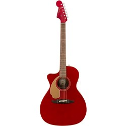 Fender Newporter Player Left-Hand w/ Cutaway & Pickup (Candy Apple Red)