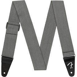 "Fender 2"" Modern Tweed Strap (White/Black 2"")"