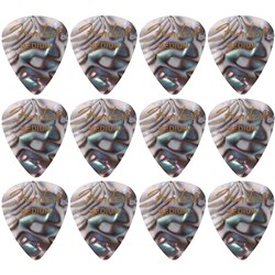 Fender 351 Shape Premium Celluloid Picks 12-Pack - Medium (Abalone)