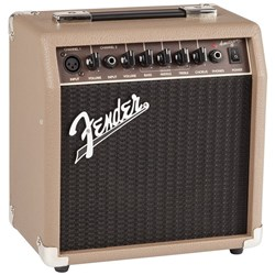 Fender Acoustasonic 15 Acoustic Guitar Amplifier w/ Guitar & Mic Inputs (15 Watts)