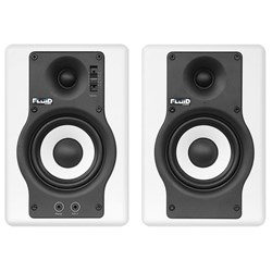 "Fluid Audio White F4 Fader 4"" Studio Monitors (Pair)"