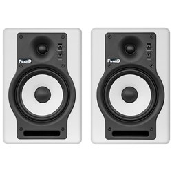 "Fluid Audio White F5 Fader 5"" Studio Monitors (Pair)"