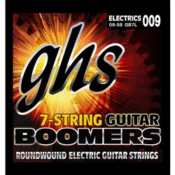 GHS Boomers GB7L 7-String Roundwound Electric Guitar Strings -Extra Light (9-58)