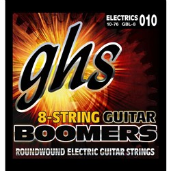 GHS Boomers GB78 8-String Roundwound Electric Guitar Strings - Light (10-76)