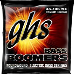 GHS Bass Boomers 4-String Medium Roundwound Electric Bass Strings (45-105)