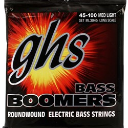 GHS Bass Boomers 4-String Medium Light Roundwound Electric Bass Strings (45-100)