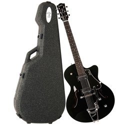 Godin 5Th Avenue Uptown GT Gloss-top Solid Black w/ Case (035175)