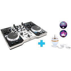 OPEN BOX Hercules DJ Control Instinct S Series DJ Control Pack w/ Party Light