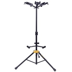 Hercules GS432B Plus Auto Grip System (AGS) Triple Guitar Stand w/ Foldable Backrest