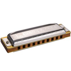 Hohner Blues Harp - 10 Hole Diatonic Harmonica with Wooden Reed in Key D