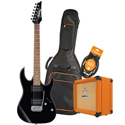 Ibanez RX22EX Electric Guitar Starter Pack w/ Orange Crush 12 & Accessories (Black)