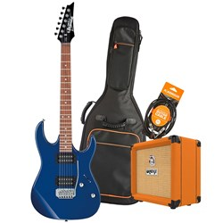 Ibanez RX22EX Electric Guitar Starter Pack w/ Orange Crush 12 & Accessories (Blue)