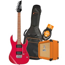 Ibanez RX22EX Electric Guitar Starter Pack w/ Orange Crush 12 & Accessories (Red)